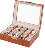 Orbita Roma 10-Unit Watch Case In Lizard Leather