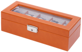 Orbita Roma 5-Unit Watch Case In Saddle Leather