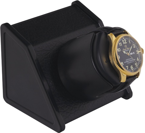 Orbita Sparta Single-Unit Watch Winder in Black Leatherette