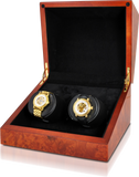 Orbita Sparta Deluxe 2-Unit Watch Winder in Burl