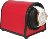 Orbita Sparta Mini Single-Unit Watch Winder In Red Leatherette