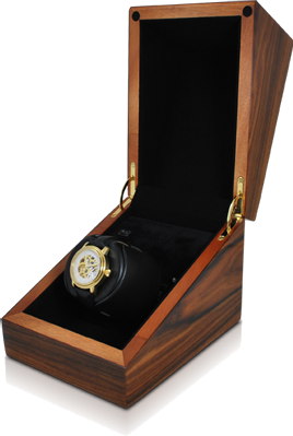 Orbita Sparta Deluxe Single-Unit Watch Winder in Teak