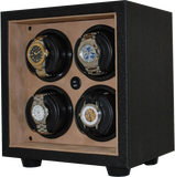 Orbita Insafe 4-Unit Watch Winder In Tan