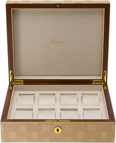 Rapport 8-Unit Heritage Watch Box in Bamboo L406