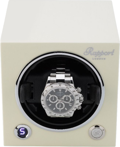 Rapport Evolution Cube Watch Winder Single in White EVO21