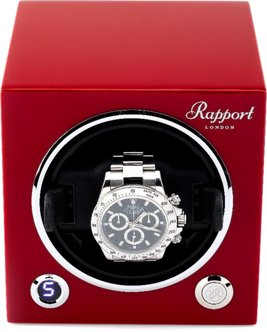 Rapport Evolution Cube Watch Winder Single in Red EVO23