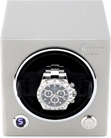Rapport Evolution Cube Watch Winder Single in Grey EVO25