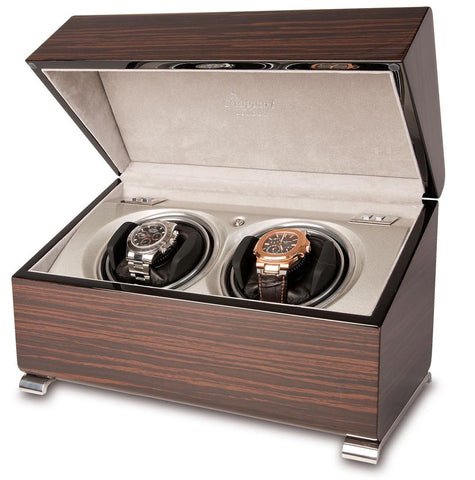 Rapport Vogue Watch Winder Double in Macassar W342