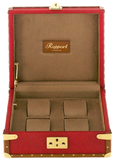 Rapport Classic Collector Watch Box Quad in Red Leather L304