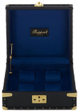 Rapport Classic Collector Watch Box Quad in Blue Leather L305