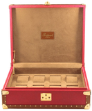 Rapport 8-Unit Classic Collector Watch Box in Red Leather L314
