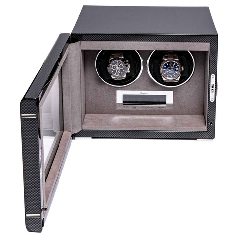Rapport Formula Watch Winder Double in Carbon W562