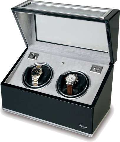 Rapport Optima Watch Winder in Ebony/Aluminium W262