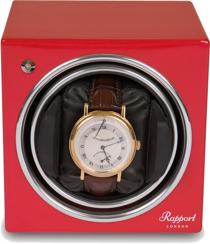 Rapport Evolution Watch Winder Single in Red EVO6
