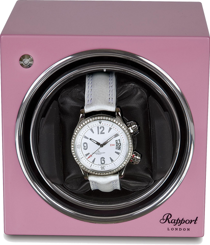 Rapport Evolution Watch Winder Single in Pink EVO12