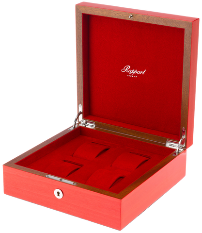 Rapport Heritage Wood Watch Box in Red L420