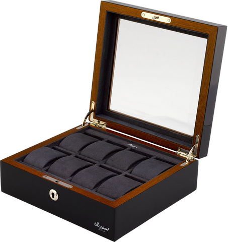 Rapport Optic Collector Watch Box in Charcoal L418