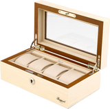 Rapport Optics Collector Watch Box Quad in Natural L424