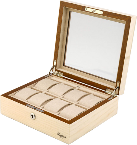 Rapport Optic Collector Watch Box in Natural L428