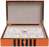 Rapport Labyrinth Wood Watch Box in Orange L442