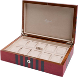 Rapport Labyrinth Wood Watch Box in Red L444