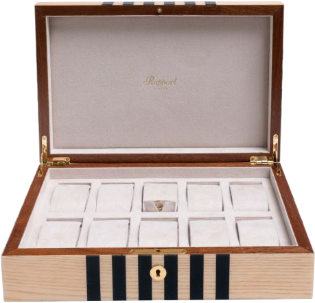 Rapport Labyrinth Wood Watch Box in Natural L443