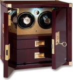 Rapport Mariner's Chest Optima Watch Winder in Mahogany/Brass W282