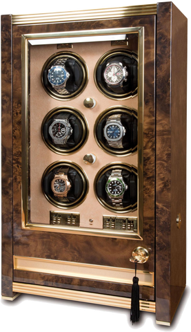 Rapport Paramount Watch Winder in Walnut Burl W526
