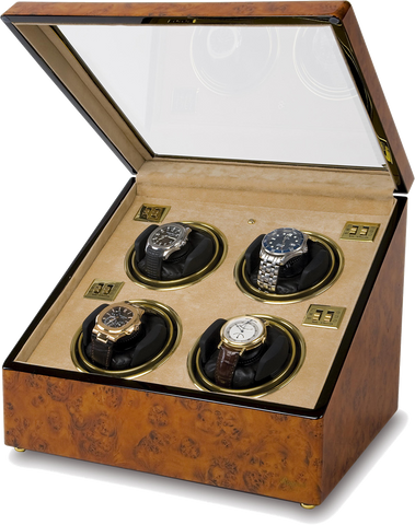 Rapport Optima Watch Winder in Walnut Burl W234