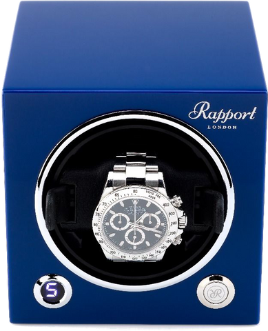 Rapport Evolution Cube Watch Winder in Blue