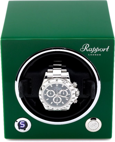 Rapport Evolution Cube Watch Winder in Green
