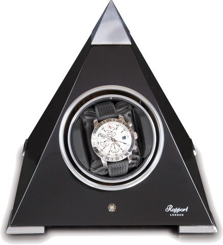 Rapport Evolution Pyramid Single Watch Winder in Black