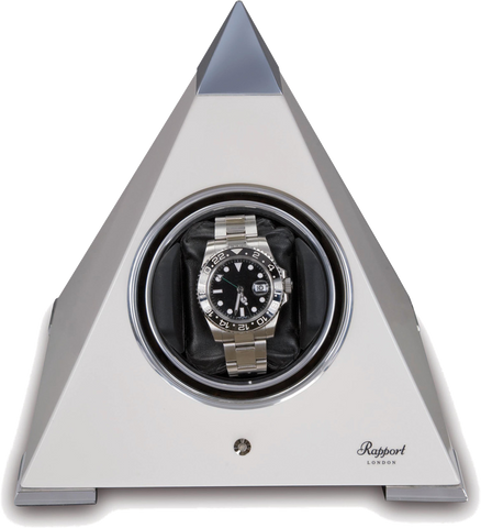 Rapport Evolution Pyramid Single Watch Winder in White