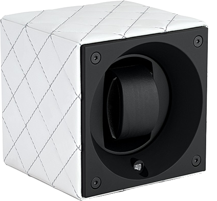 Swiss Kubik SK01.CVBLANCC Single Watch Winder in White Leather Couture