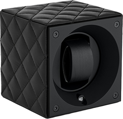 Swiss Kubik SK01.CVNOIRTTC Single Watch Winder in Black Leather Couture