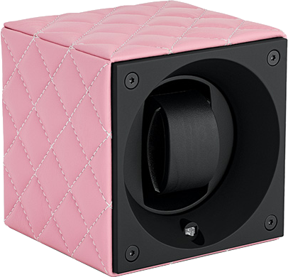Swiss Kubik SK01.CVROSEC Single Watch Winder in Rose Leather Couture