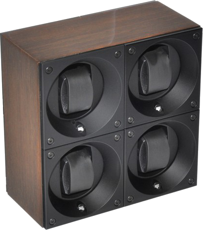 Swiss Kubik SK04.GW001 Wedge Wood 4 Unit Watch Winder In Gold