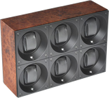 Swiss Kubik SK06.BEL001 6-Unit Watch Winder In Burl Wood