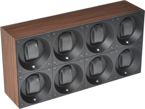 Swiss Kubik SK08.BWE001 8-Unit Watch Winder In Natural Wenge Wood