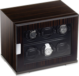 Scatola del Tempo 6RTEBOS 1V 6-Unit Watch Winder In Zebrano Wood