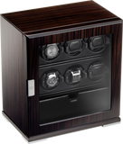 Scatola del Tempo 6RTSPEBOS 1V 6-Unit Watch Winder w Storage In Zebrano Wood