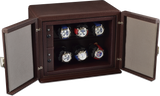 Scatola del Tempo 6RTXXL Compact 6-Unit Watch Winder in Brown Leather Grain