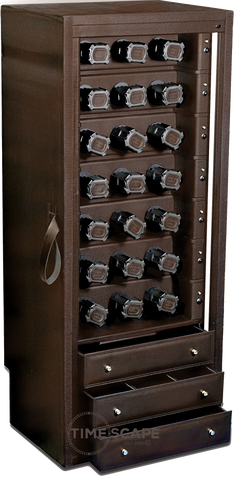 Scatola del Tempo 21RT XXL Watch Winder In Brown Leather