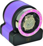 Scatola del Tempo RT1 SPORT Single-Unit Watch Winder In Lilac Leather Grain