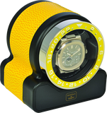 Scatola del Tempo RT1 SPORT Single-Unit Watch Winder In Yellow Leather Grain