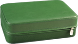 Scatola del Tempo TESORO D Jewel Case in Green Leather Grain