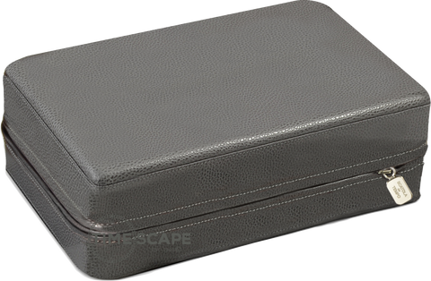 Scatola del Tempo Pen Box 8 in Grey Leather Grain