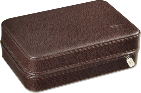 Scatola del Tempo Pen Box 16 in Brown Leather Grain