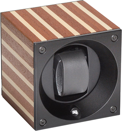 Swiss Kubik SK01.BYV001 Single Watch Winder in Light Yacht Wood