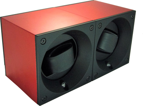 Swiss Kubik SK02.AE005 2-Unit Watch Winder in Red Anodized Aluminum